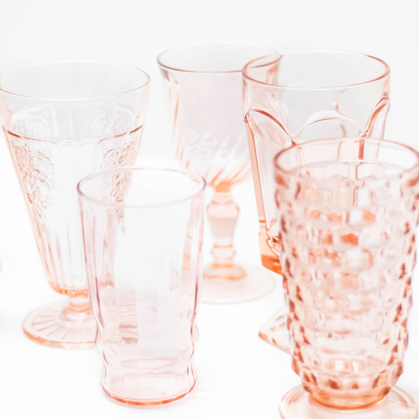 Pink Depression Glasses