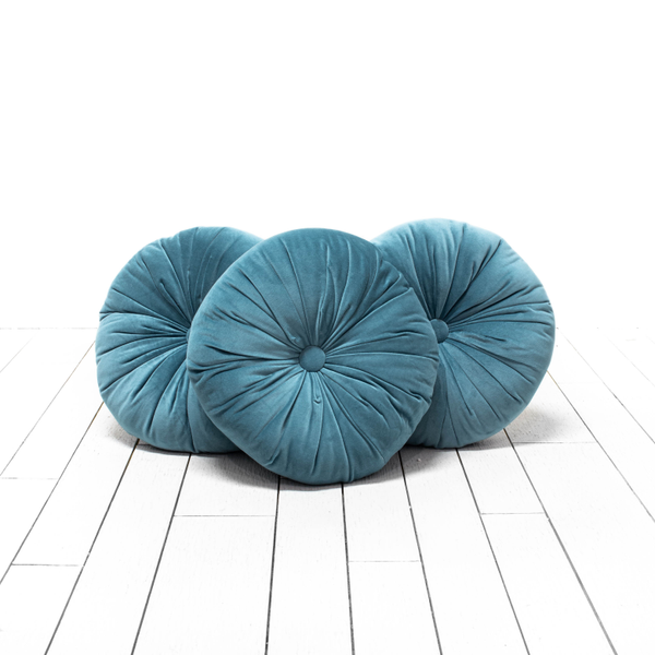 Blue Round Pillows