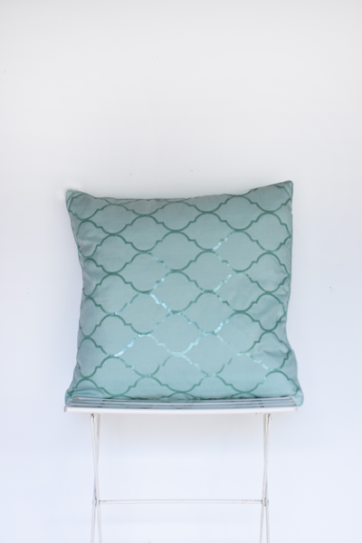 Mermaid Blue Pillow