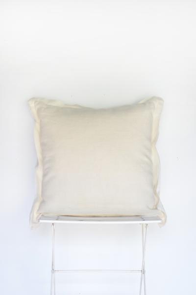 Natural Ivory Linen Pillow