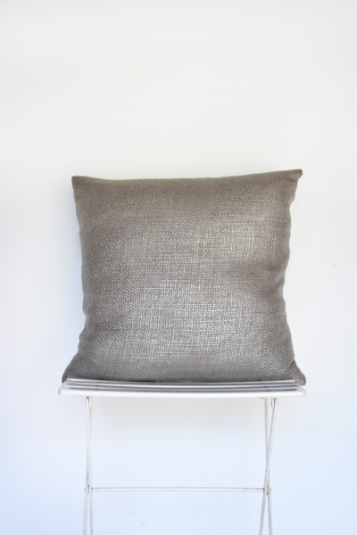 Silver Metallic Weave Pillow