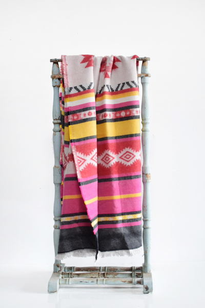 Vibrant Aztec Throw