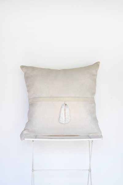 Ivory Tassle Pillow