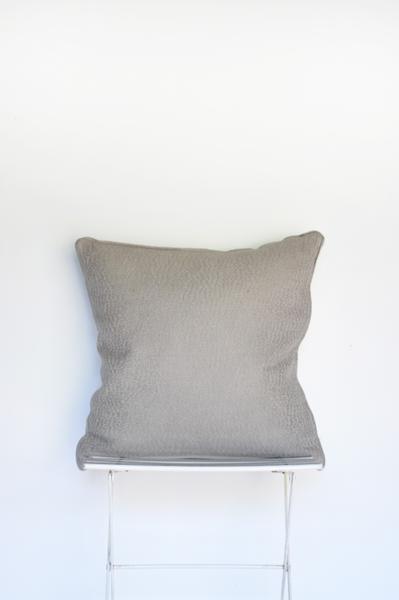 Grey Woven Pillow