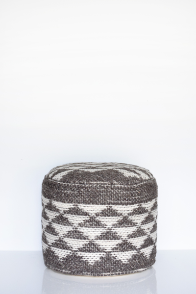 Aztec Wool Pouf