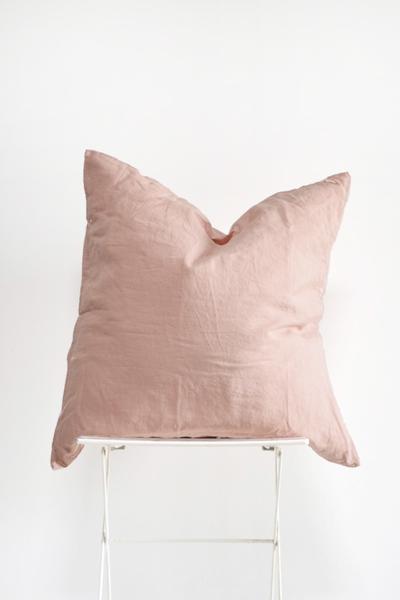Blush Linen Pillow (Oversized)