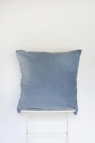 Soft Blue Velvet Pillow (Oversized)