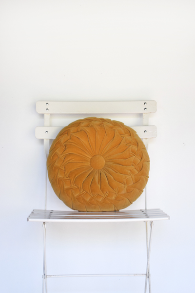 Yellow Medallion Pillow