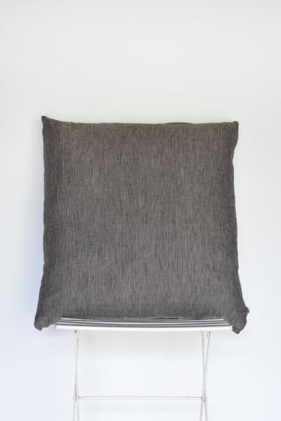 Dark Grey Pillow Oversized + Floor