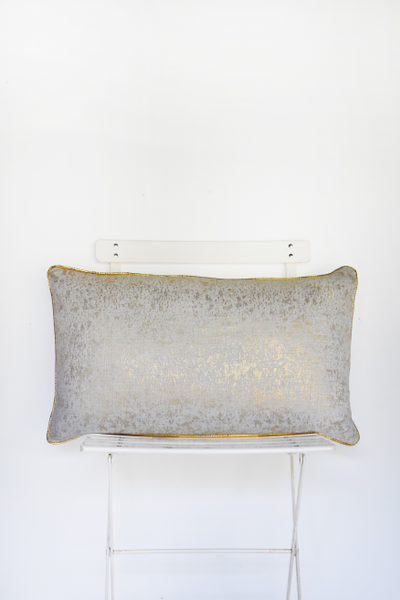 Ivory and Gold Dust Lumbar Pillow