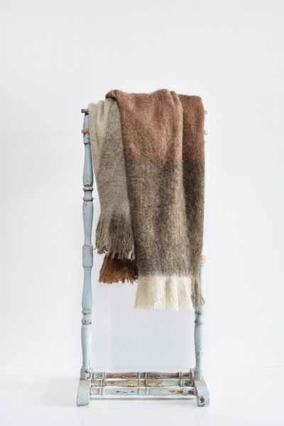 Brown Wool Ombre Throw