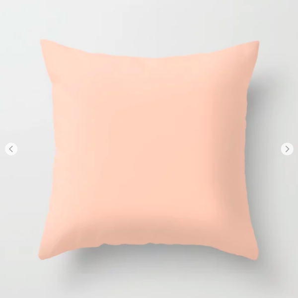 Soft Peach Pillow