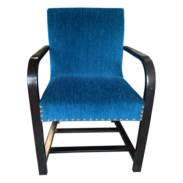 mid century bentwood thonet blue chair