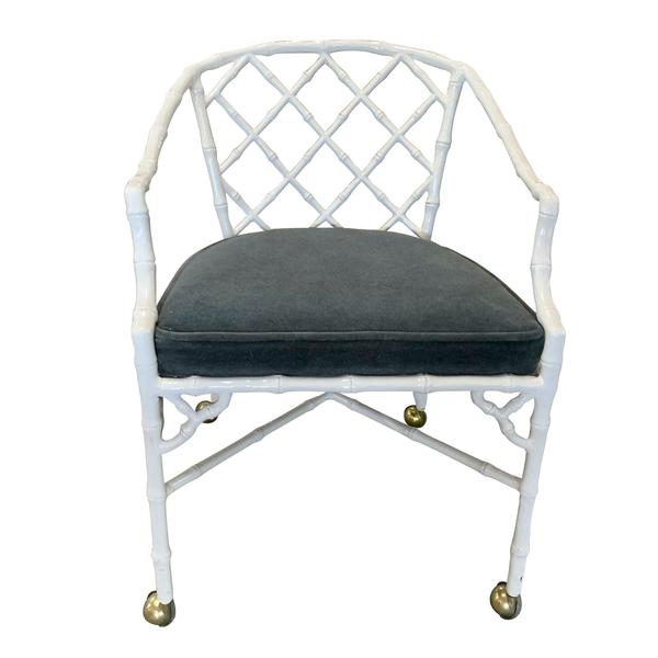 vintage Hollywood regency dining chair dorothy draper