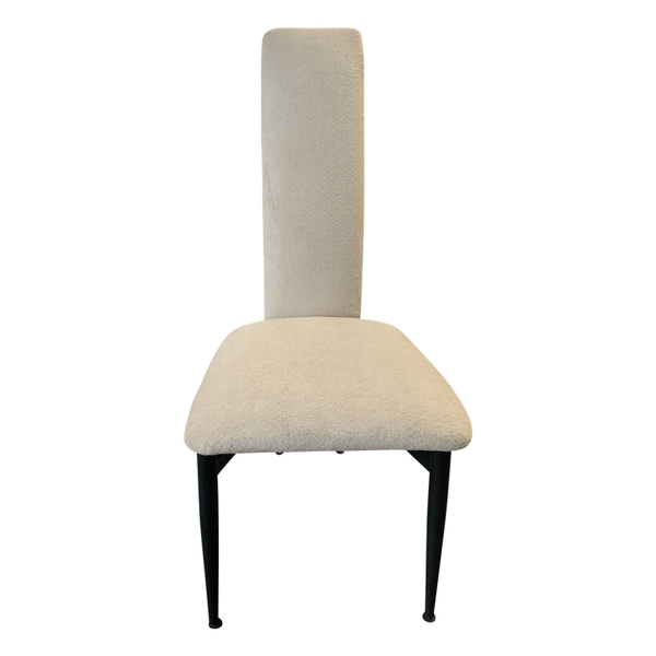 post modern dining chair with ivory woven fabric