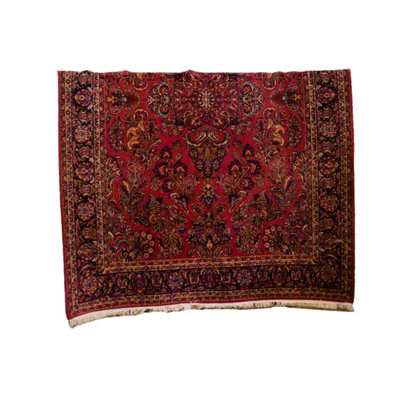 large vintage burgundy rug