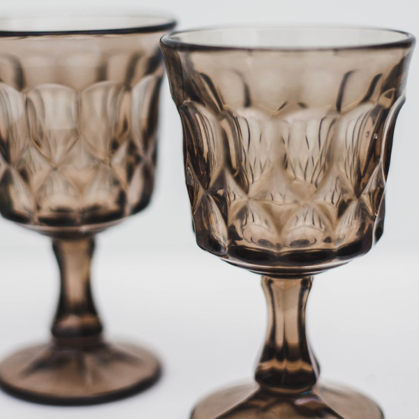 Small Sepia Goblets