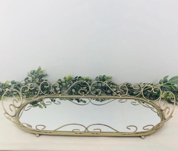 Elaborate Gold Mirror Tray