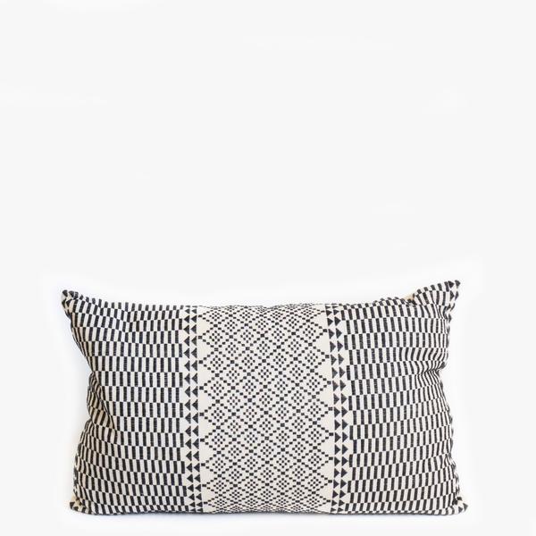 Pillow // Pakistan Embroidered Black White (sm)