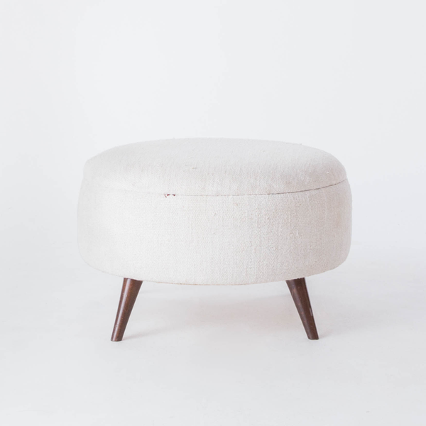 Large Hemp Ottomans