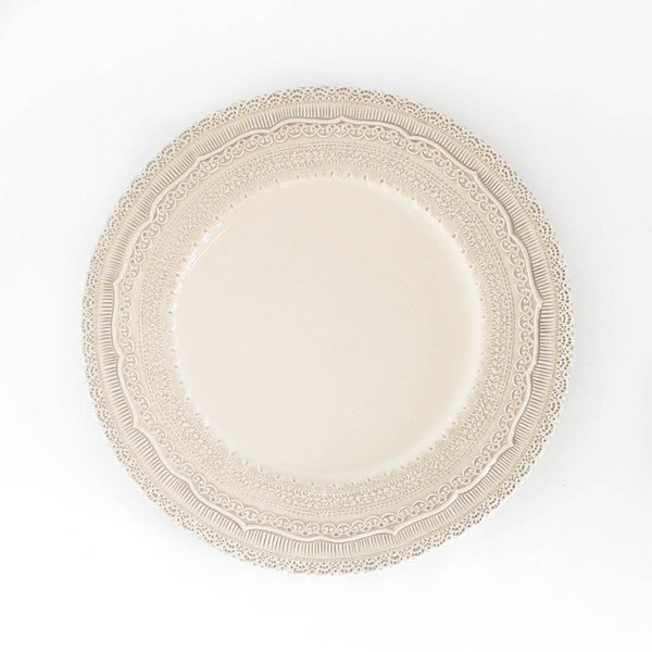 Ivory Lace Charger