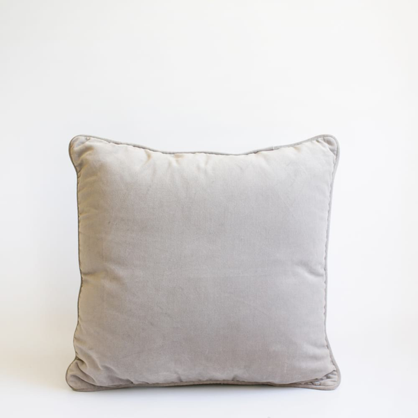 Pillow // Silver Gray Velvet