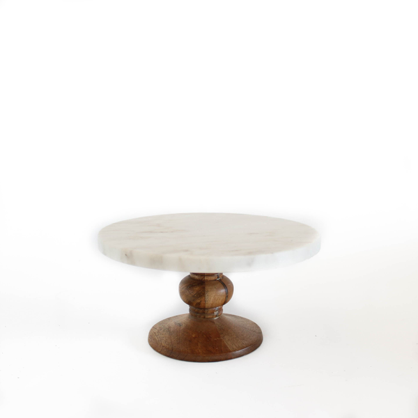 """9"""" Marble Top Cakestand"""