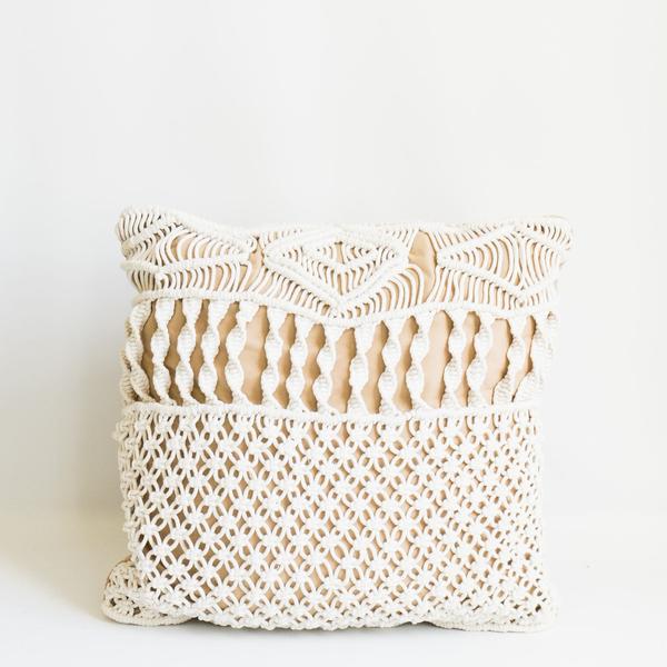 Pillow // Macrame Beige