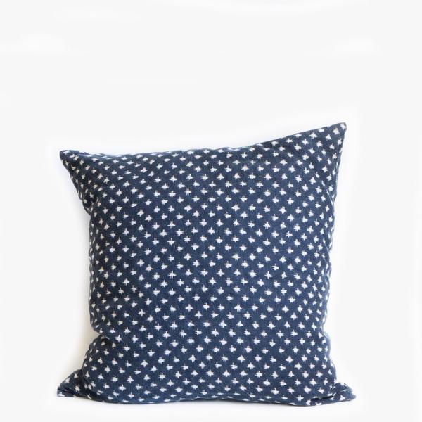 Pillow // Navy Dotted Linen