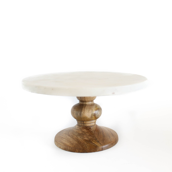 "12"" Marble Top Cakestand"