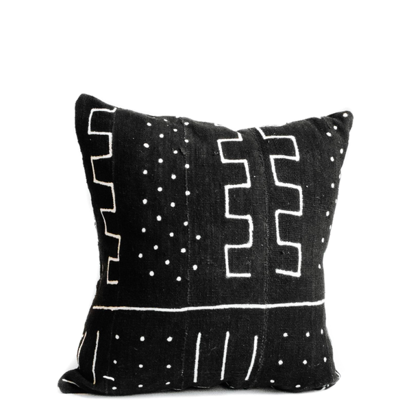Pillow // Black Mudcloth, lg