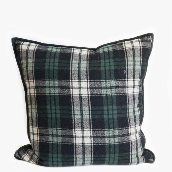 Pillow // Navy + Green Tartan