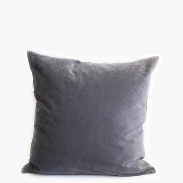 Pillow // Charcoal Gray Velvet