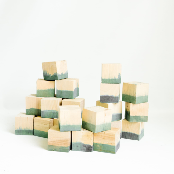 Dip Dyed Escort Card Blocks