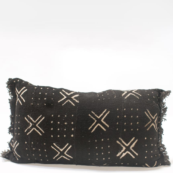 Pillow // Black Mudcloth, lumbar