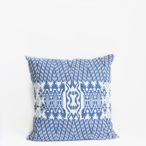 PIllow // Indigo Ikat Patchwork
