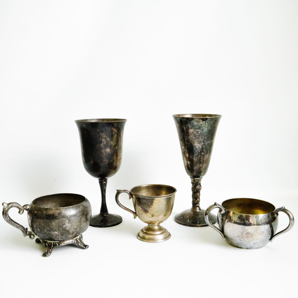 Assorted Silver Vessels