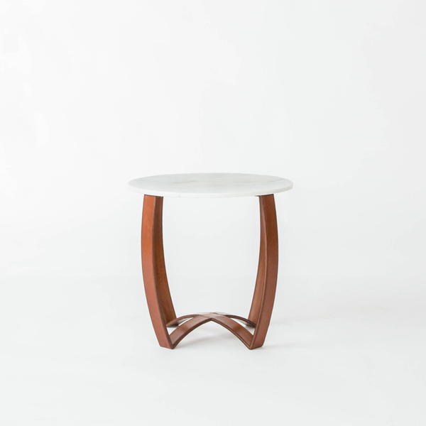 Leather Strap + Marble Tables