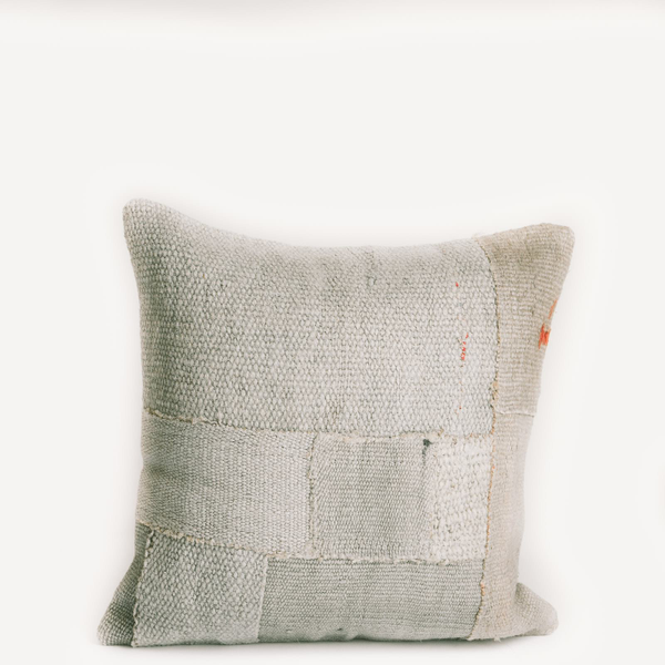 Pillow // Patchwork Dhurrie, Gray