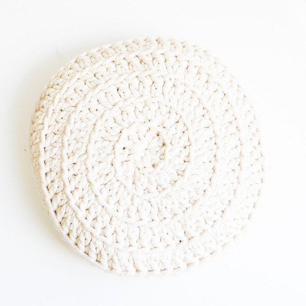 Cushion // White Cable Knit