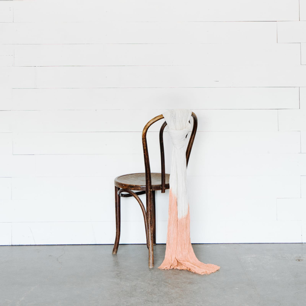 Custom Dip-Dyed Chair Sashes