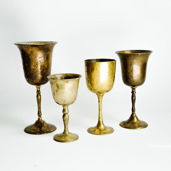 Assorted Brass Goblets