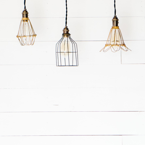 Industrial Pendant Cage Lights