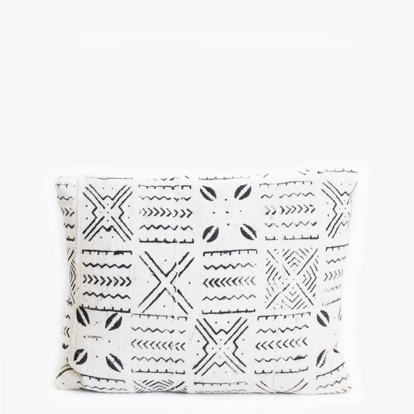 Pillow // White Mudcloth, sm