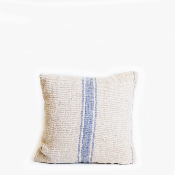 Pillow // Grainsack Blue Stripe