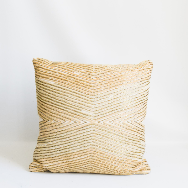 Pillow // Beaded Metallic