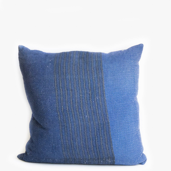 Pillow // Indigo Kantha, lg