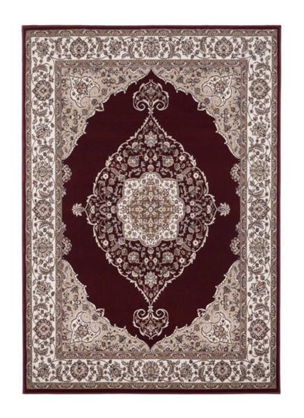 Burgundy red vintage rug