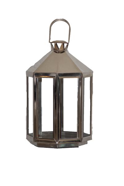 Silver Metal Lantern (Large)