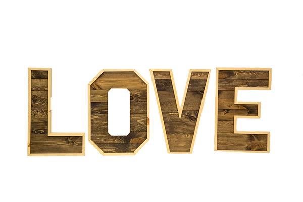 """Large Wooden """"L-O-V-E"""" Letters"""